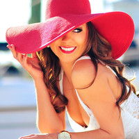 Seaworthy Sun Hat: Deep Red | Hope's