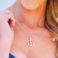 Be My Anchor Necklace: Gold | Hope&#x27;s