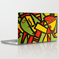 Dissassembled Laptop & iPad Skin by Cailin Rawlins | Society6