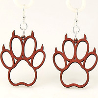Bear Claws - Unique Wood Earrings