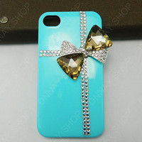 iphone 5 case   bows   Diamonds case   iphone 4 case iphone 4s case 3D iphone 5 cases
