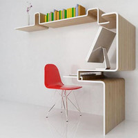 Space-Saving Furniture: Home Office Desk &amp; Storage Idea | Designs &amp; Ideas on Dornob
