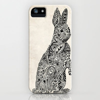 Rabbit2 iPhone Case by Kanika Mathur
