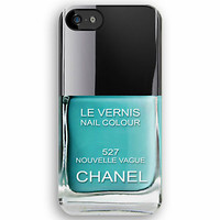 Blue Teal Torquoise Nouvelle Vague Chanel Nail Poilsh Enamel apple iphone 5, iphone 4 4s, iPhone 3Gs, iPod Touch 4g case by Pointsale Store