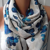 Elegant and feminine scarf...Infinity Scarf  Circle Scarf  Tube scarf... It made with good quality CHIFFON fabric