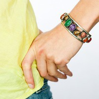 vintage Bracelet/ colorful moroccan style bracelet by DevikaBox