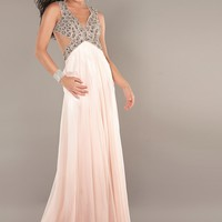 Jovani 1929 Blush Halter Evening Gown