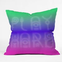 DENY Designs Home Accessories | Wesley Bird Play Hard Throw Pillow