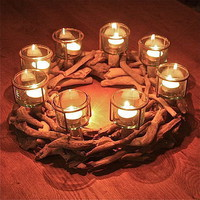 driftwood and glass tealight ring by the london garden trading company | notonthehighstreet.com