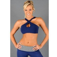 Amazon.com: Sexy Cross Front Workout Bra: Clothing