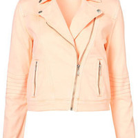 MOTO Neon Denim Biker Jacket - New In This Week - New In - Topshop USA