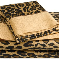 Regal Collection 300-Thread-Count Leopard Print Sheet Set