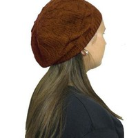 Amazon.com: Brown Elegant Cable Beret: Clothing