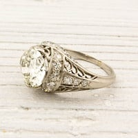 1.75 Carat Old European Cut Diamond Engagement Ring | Shop | Erstwhile Jewelry Co.