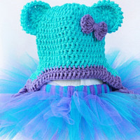 MADE TO ORDER turquoise and purple tutu and hat by prettylilpieces