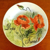 Dope Fiend plate by trixiedelicious on Etsy