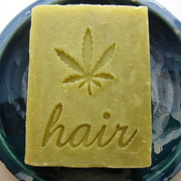 Patchouli Hemp Oil Shampoo Bar with Raw Organic by AquarianBath