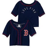 Boston Red Sox Sequin Crop Baseball Top - PINK - Victoria's Secret