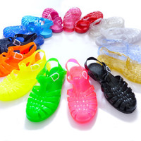 Sun Jellies, retro vintage jelly sandals, plastic beach shoes, Meduse, French