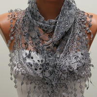 Women Shawl Scarf - Headband Necklace Cowl/75882304
