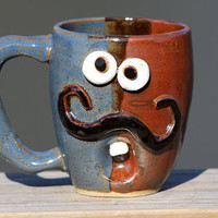 Mustache Mug Funny Coffee Mugs by NelsonStudio on Etsy