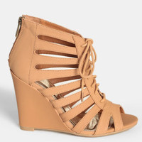 Pachuca Sunrise Lace-Up Wedges - $42.00 : ThreadSence, Women&#x27;s Indie &amp; Bohemian Clothing, Dresses, &amp; Accessories