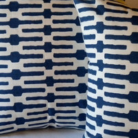 Annie Selke Designer Pillow Cover, Indigo and white 22 x 22 pillow cover