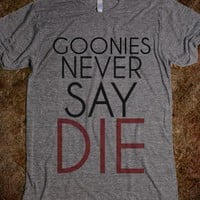 Goonies Never Say Die - hodgepodge