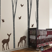 Birch Trees Decal Tree Wall Decal Wall Sticker by WallConsilia