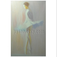 Ballet Art - Ballerina Painting Print - Ballet Wall Art - Dancer Print - White Print Art -Ballerina Dancer - Ballerina Decor - Canvas Art