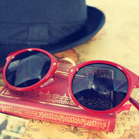 Street Retro Red Sunglasses