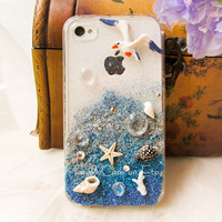 Original Sunset Beach Crystal Bling Bling Phone Case