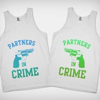 Partners in Crime (Alternate Colors) also available in Purple, Red &amp; Black- BFF Shirts on Skreened