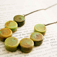 Earthy geometry necklace by MakenziMadilynDesign on Etsy