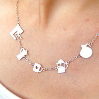 Meet Your Coffee Maker - Handmade Silver Necklace | SmilingSilverSmith Handmade Silver Rings & Jewelry