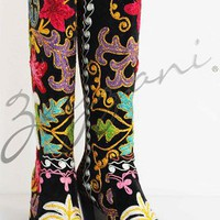 Knee High Cuban Heel Zeyzani