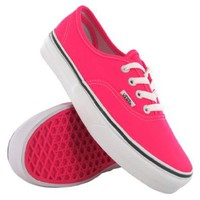 Amazon.com: Vans Classic Authentic Plimsole Pink White Womens Trainers Size 5.5 US: Shoes