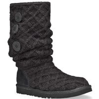 3066-BLK Women's Lattice Cardy Casual UGG Boots  from Bootbay, Internet's Best Selection of Work, Outdoor, Western Boots and Shoes.