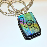 Celtic Design Glass Pendant Made in Ireland by GeckoGlassDesign