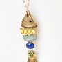 Mediterranean Fish Pendant Necklace - Blue â?? Modeets