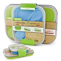 Smart Planet EC-34SLSET1 Eco Lunch Box Small Lrg Bl Grn: Electronics