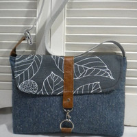 Maycas Daily Messenger Bag in  Herringbone by maycascollection