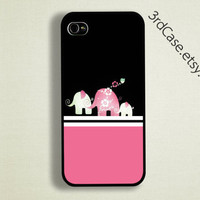 Case iPhone 4 Case iPhone 4s Case iPhone 5 Case pink Elephant case