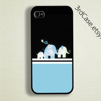 Case iPhone 4 Case iPhone 4s Case iPhone 5 Case Blue Elephant case
