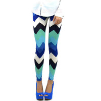 Rainbow Legs Bright Chevron Pants