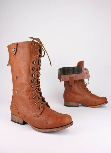 zip back combat boot $30.80 in WHISKY - Boots | GoJane.com