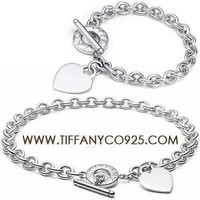 Shopping Cheap Tiffany Heart Tag Toggle Bracelet and Necklace Set At Tiffanyco925.com - Discount Tiffany Setting