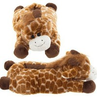 Amazon.com: Tan Giraffe Animal Slippers: Clothing