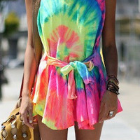 Tie Dye Summer Dress