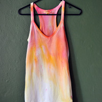 Colorful Tie Dye Tank Top Size Large